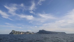 Capri- Boat View - Island - Naples Stock Footage