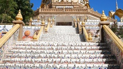 Gold pagoda in Wat Phra That Pha Son Kaew Temple Stock Footage
