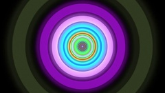 Endless Colorful Circle Tunnel Hypnotic Abstract VJ Motion Background Loop 2 Stock Footage