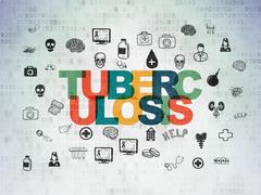 Medicine concept: Tuberculosis on Digital Data Paper background Piirros
