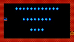Train puzzle, retro style low resolution pixelated game graphics, level 1 Stock Footage