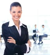 Business woman. Isolated over white background Stock Photos