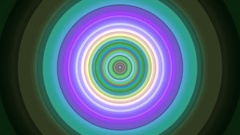 Endless Colorful Circle Tunnel Hypnotic Abstract VJ Motion Background Loop 1 Stock Footage