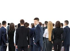 Large group of business people. Over white background Stock Photos