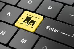 Politics concept: Election on computer keyboard background Stock Illustration