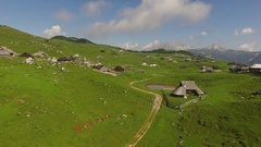 Mountain Village From Above At Summer Stock Footage