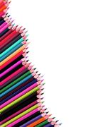 Color pencil isolated on white Stock Photos