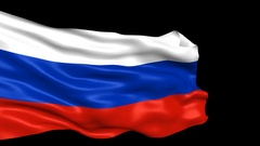 Russia flag looped with alpha channel Stock Footage
