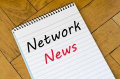 Network news concept on notebook Kuvituskuvat