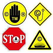 Watch out for Copyright and Trademark Stock Illustration