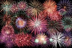 Happy new year firework Stock Photos
