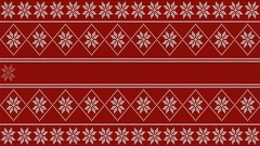 Winter (christmas) style loading 4k video - white knitted pattern on red ba.. Stock Footage