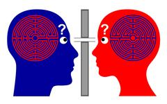 Knowing each other Stock Illustration