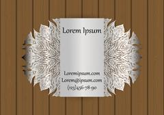 Business or visiting card template with a cut out pattern. May be used for .. Stock Illustration