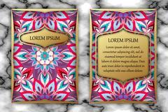 Invitation card design template. Vintage decorative elements with mandala, .. Stock Illustration