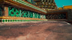 Thailand Bangkok Temple Wat Phra Chetuphon Vimolmangklararm Stock Footage