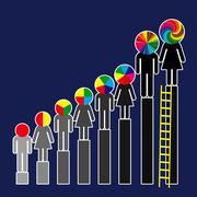 Career Levels Stock Illustration