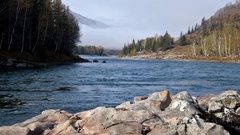 River Katun in Altai mountains Stock Footage