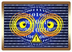 Beware of Computer Vision Syndrom Stock Illustration