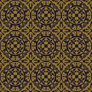 Elegant antique background image of round curve geometry leaf pattern Stock Illustration