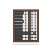 Traditional wooden abacus isolated on white background Stock Illustration