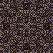 Antique seamless background of vintage round cross flower kaleidoscope Stock Illustration