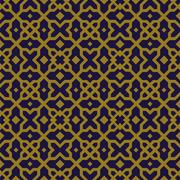 Antique seamless background of square star cross geometry kaleidoscope Stock Illustration