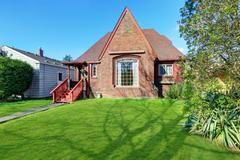 Classic Tudor style brick  home Stock Photos