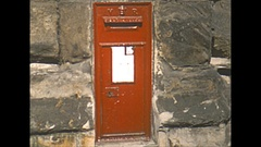Vintage 16mm film, 1952, UK Durham, city mail box and Durham Castle Stock Footage