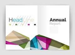 Unusual abstract corporate business brochure template Stock Illustration