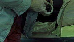 Car preparation for painting and tuning Stock Footage