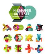 Abstract background, geometric infographic option templates Stock Illustration
