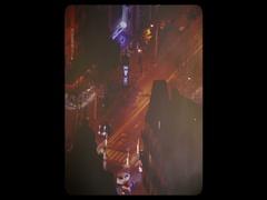 Vintage effect Paris street drone aerial Arkistovideo
