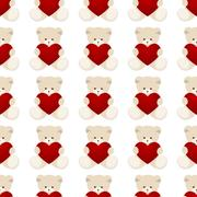 Teddy Bear Valentines Day Card Stock Illustration
