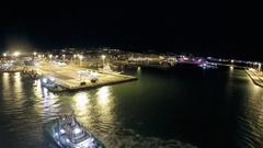 Departure from port Civitavecchia Stock Footage