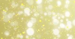 Christmas golden sparkle background with stars and bokeh Stock Footage
