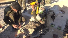 November 2016:Soldiers on the front, ISIS war, war news, SDF, Mosul, Iraq, Syria Arkistovideo