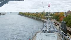 Buffalo, NY, USA: Uss Little Rock and Croaker submarine Stock Footage
