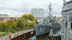 Buffalo, NY, USA: USS The Sullivans, DD-537 Destroyer Stock Footage