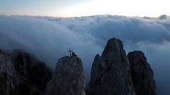 Sunrise in the mountains Ai-Petri. Alupka, Crimea Stock Footage
