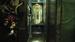 Inside the diesel-electric submarines of the US during World War II. USS Croaker Stock Footage