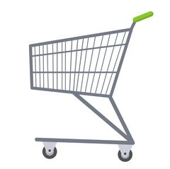 Shopping carts icon flat style. Metal  trolley, for purchases in a supermar.. Piirros