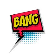 Comic text bang pop art bubble Stock Illustration