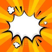 Clear empty boom comic speech bubble Stock Illustration