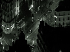Black and white of Paris street drone aerial Arkistovideo