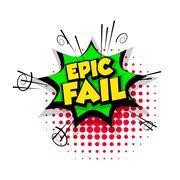 Comic text epic fail pop art bubble Stock Illustration