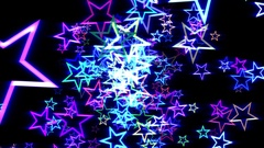 Blue Disco Retro Stars Burst Psychedelic VJ Motion Background Loop rotate right Stock Footage