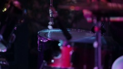 Drum At Concert On Stage Stock Footage
