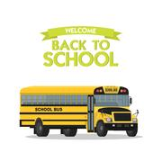 Vector yellow school bus isolated on white background Piirros