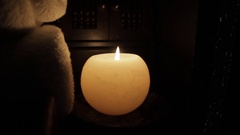 Aromatic Candle Lights Stock Footage